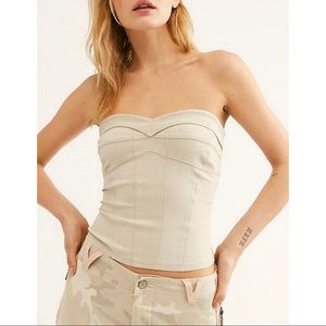 NWOT Free People You Too Ivory Tube Top Sz XS